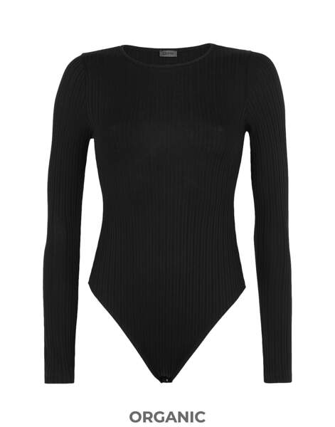 Haut style body, 39€, 8 by yoox organic ribbed coton sleeve brief