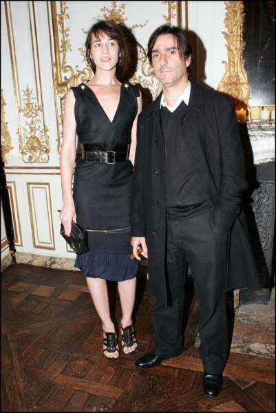 Charlotte Gainsbourg et Yvan Attal, en octobre 2004, à la soirée Chanel.