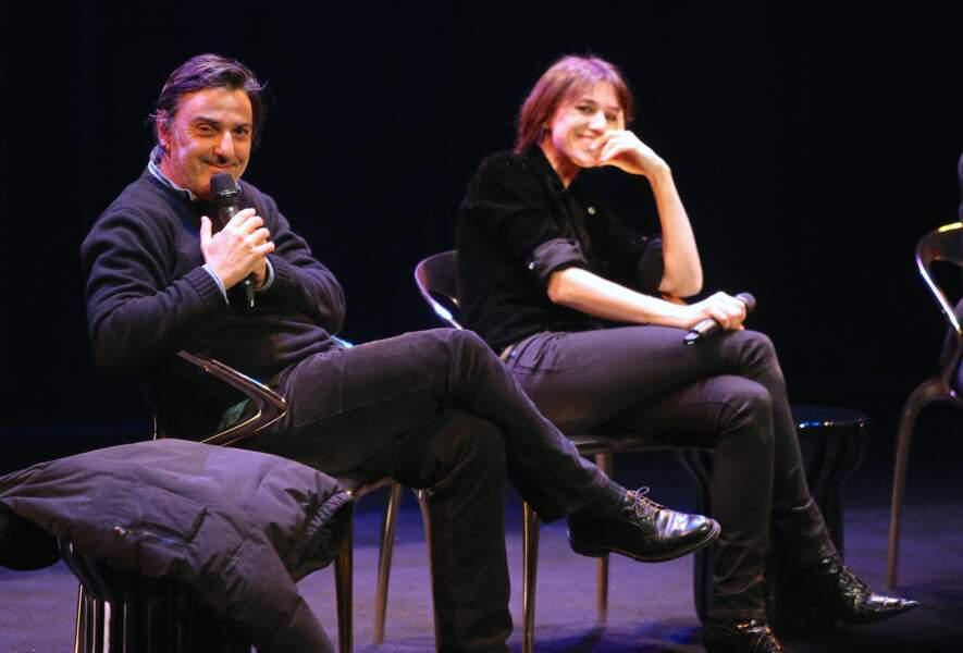 """Yvan Attal et Charlotte Gainsbourg, lors de la soirée d'ouverture de """"The French Cinema Week"""" à New York, le 12 novembre 2019."""