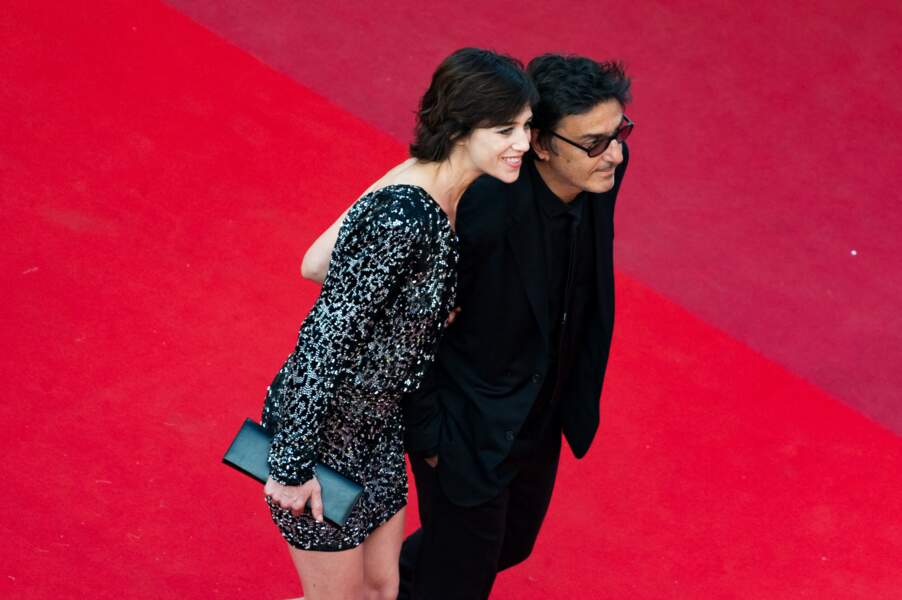 Charlotte Gainsbourg et Yvan Attal, lors du 70ème Festival International du Film de Cannes, le 21 mai 2017.