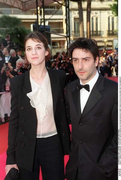 Charlotte Gainsbourg et Yvan Attal en 2001, au festival de Cannes.