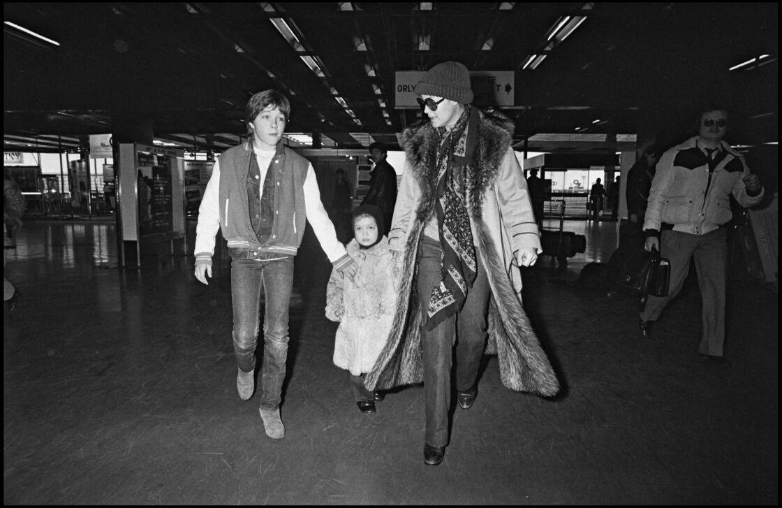 Romy Schneider avec sa fille Sarah et son fils David en 1984