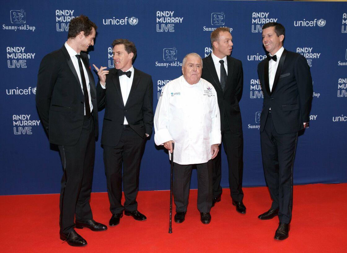 Andy Murray, Rob Brydon, Albert Roux, Chris Hoy et Tim Henman. Le 6 novembre 2017