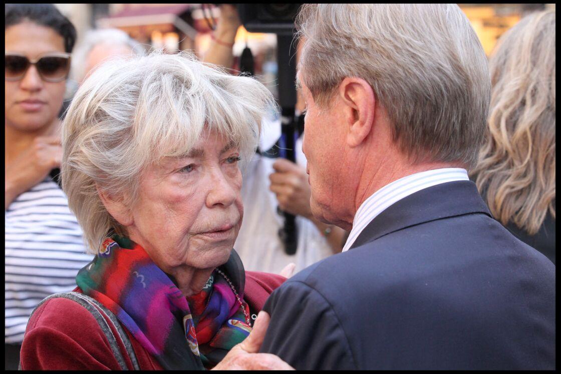 Evelyne Pisier, ici avec Bernard Kouchner à une cérémonie organisée pour rendre hommage à sa soeur Marie-France Pisier, en 2011.
