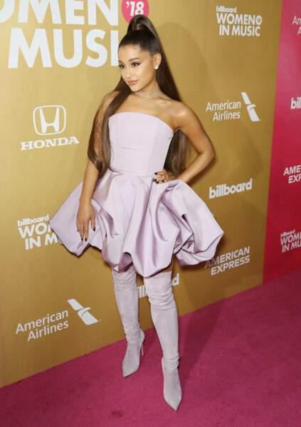 Ariana Grande, lors de la 13ème édition des Billboards Annual Women in Music Event, à New York, le 6 décembre 2018