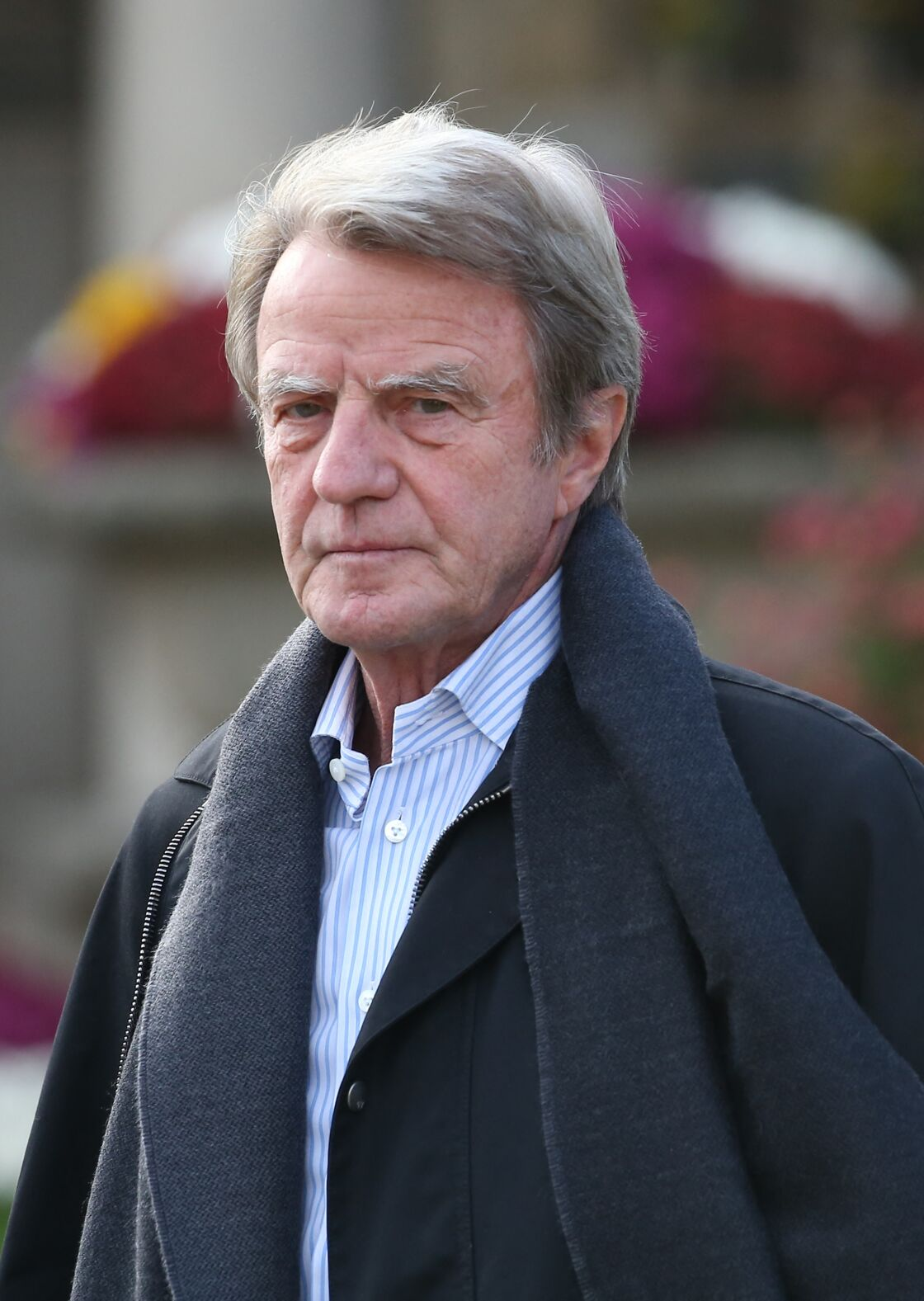 Bernard Kouchner - Hommage à André Glucksmann au crématorium du cimetière Père-Lachaise à Paris, le 13 novembre 2015.