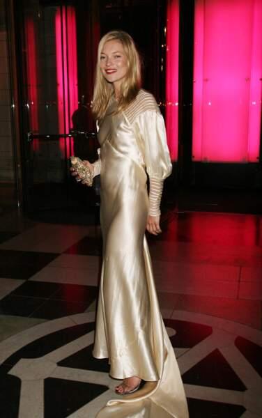 Kate Moss, à la soirée Golden Age Couture, à Londres, en septembre 2007.