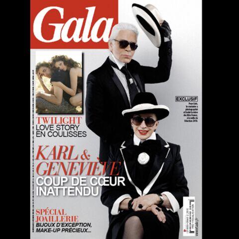 Geneviève de Fontenay relookée par Karl Lagerfeld