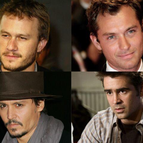 Johnny Depp, Jude Law et Colin Farrell ont la main sur le coeur