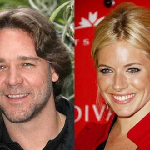 Russell Crowe et Sienna Miller se mettent au travail