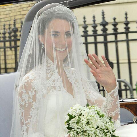 Mariage Royal: Kate Middleton sublime dans une robe en dentelles Sarah Burton