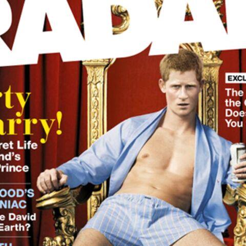 Le prince Harry pose torse nu pour un magazine!