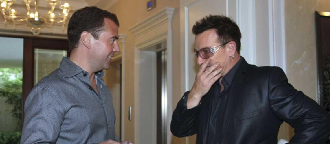 Photos: Bono et Medvedev, très potes à Sotchi