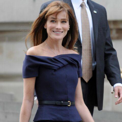 Carla Bruni-Sarkozy entre au Musée Grévin