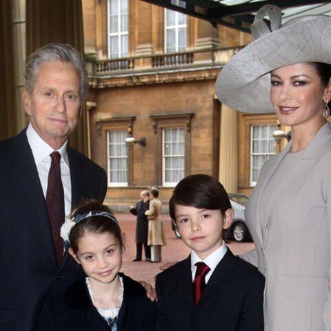 Catherine Zeta-Jones, en famille, chez les Windsor
