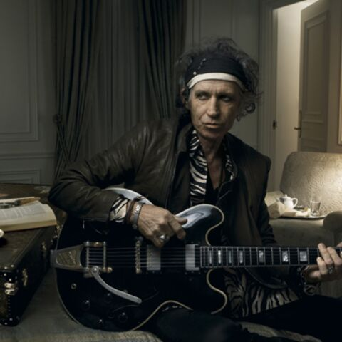 Keith Richards pose pour Louis Vuitton