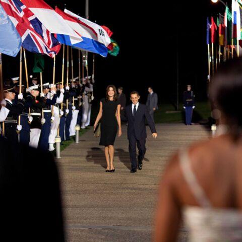 Les Sarkozy débarquent chez les Obama