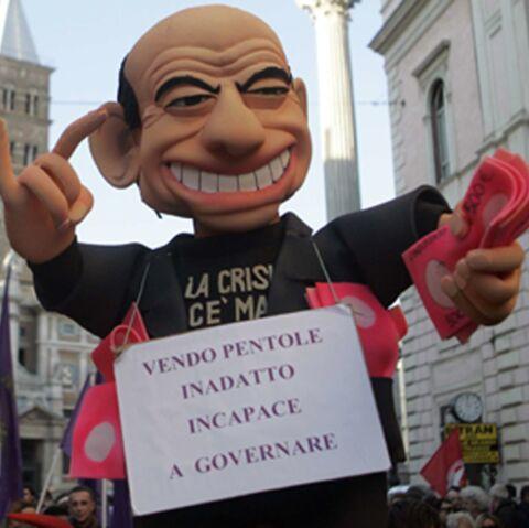 No Berlusconi Day: le buzz finit dans la rue