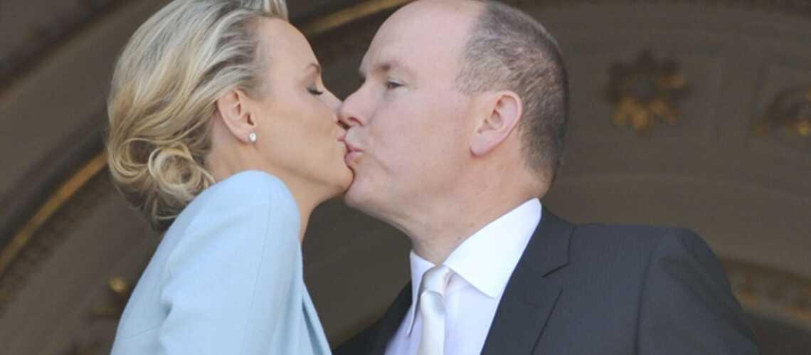 Mariage civil à Monaco: le baiser!