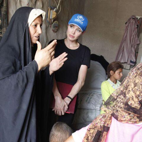 Angelina Jolie auprès des réfugiés irakiens