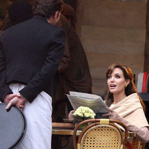 Angelina Jolie, en tournage à Paris
