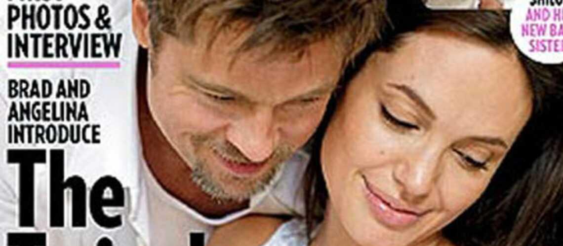 Angelina Jolie et Brad Pitt  présentent leurs jumeaux dans People