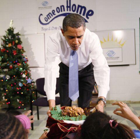 Barack Obama, papa gâteau