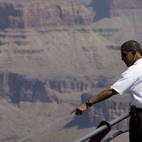 Obama et sa famille cèdent au vertige du Grand Canyon
