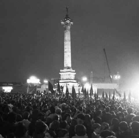 Yannick Noah fête François Mitterrand à la Bastille