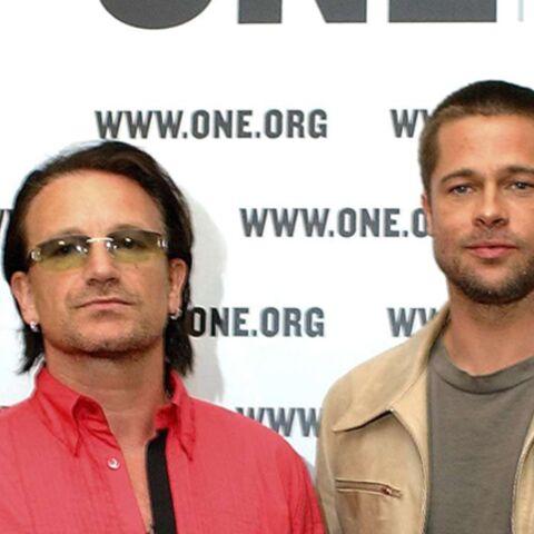 Bono fête ses 48 ans avec Brad Pitt