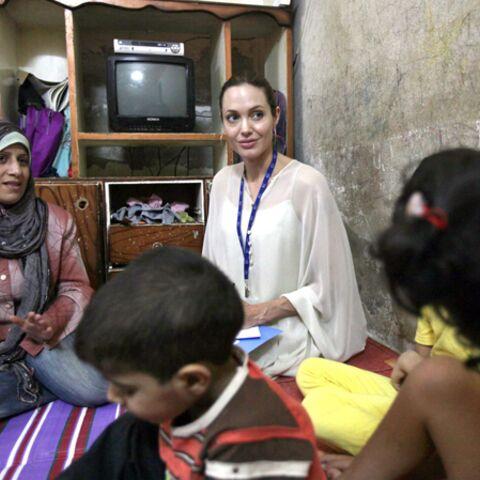 Brad Pitt et Angelina Jolie en visite humanitaire au Moyen-Orient