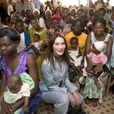 Photos: Carla Bruni-Sarkozy, sur le terrain, contre le sida
