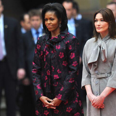 Michelle Obama et Carla Bruni-Sarkozy: le fashion match des First Ladies