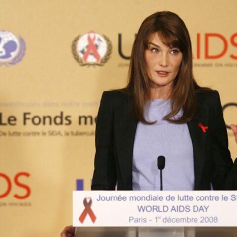 Carla Bruni-Sarkozy ne s'engage pas contre le Sida «par hasard»