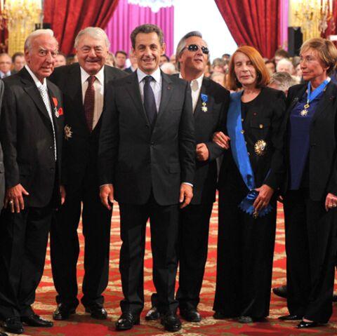 Yvette Horner et Gilbert Montagné décorés par Nicolas Sarkozy