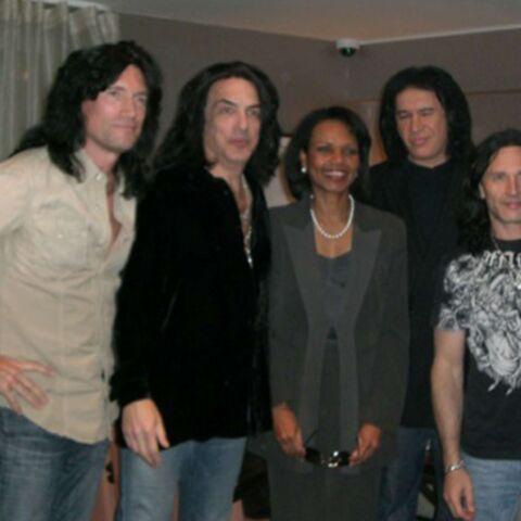 Condoleezza Rice, fan des Kiss