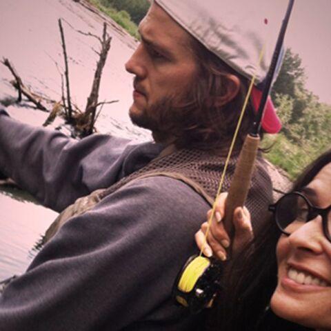 Photos: la partie de pêche d'Ashton Kutcher et Demi Moore