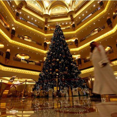 Un sapin 7 étoiles à l'Emirates Palace