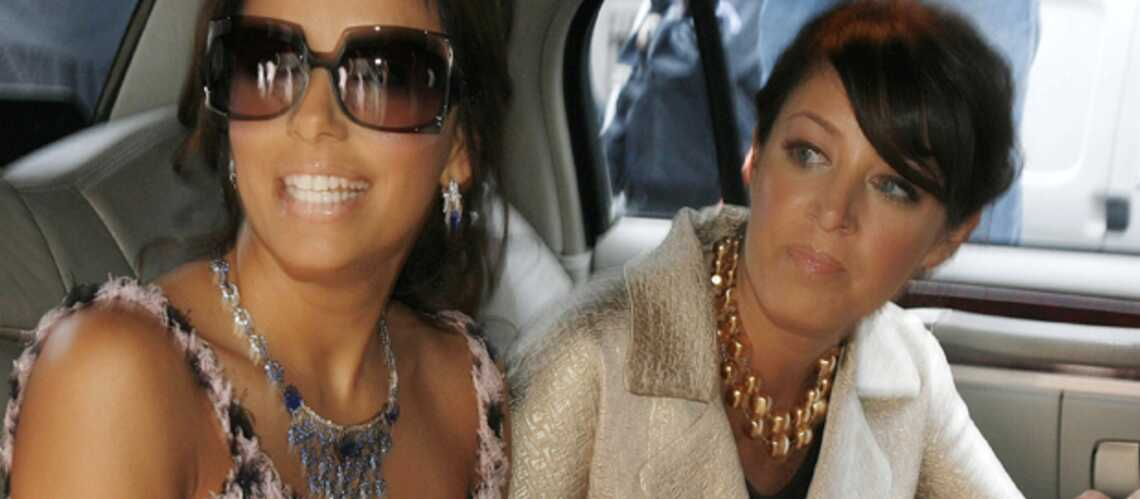 Eva Longoria en route pour son déjeuner entre filles avant le mariage