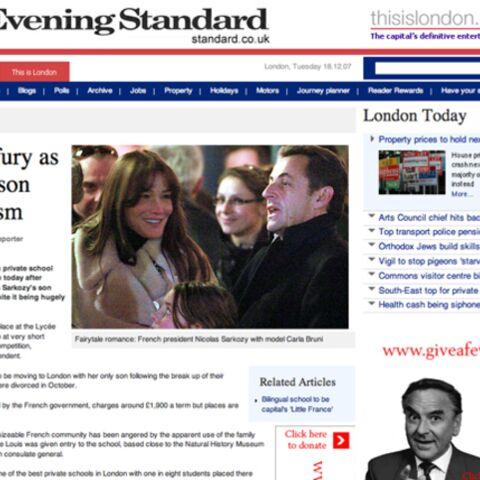 Le fils des Sarkozy à Londres?