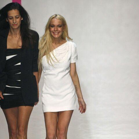 Fashion Week: Lindsay Lohan épaule Estralla Archs chez Ungaro
