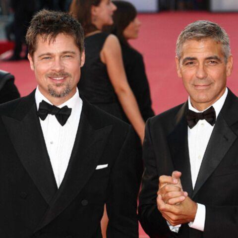 George Clooney et Brad Pitt embrasent Venise