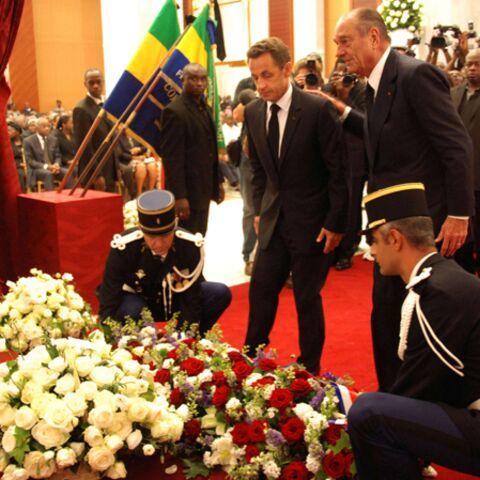 Jacques Chirac et Nicolas Sarkozy rendent un dernier hommage à Omar Bongo