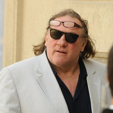 Gérard Depardieu, en visite à l'Elysée