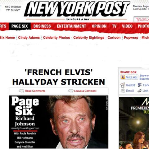 Même le New York Post parle de la santé de Johnny!