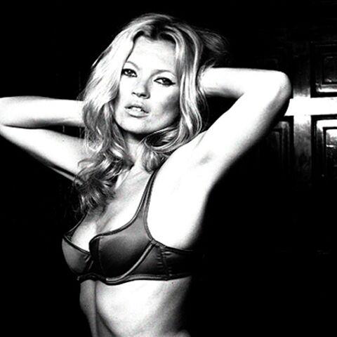 Kate Moss: à demi-nue et à vendre!
