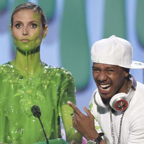 Photos- Heidi Klum, verte de rire aux Kids Choice Awards