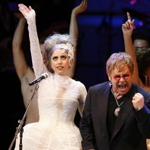 Lady Gaga choisie comme marraine du fils d'Elton John