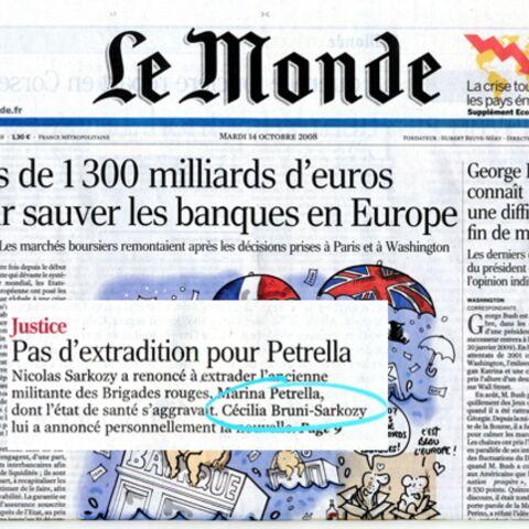 Entre Cécilia Attias et Carla Bruni-Sarkozy c'est Le Monde à l'envers