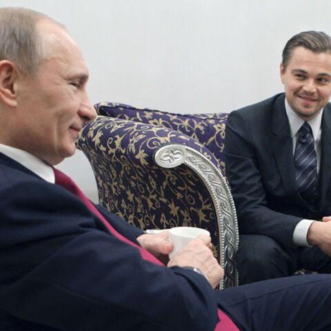 Leonardo DiCaprio, caressé par Vladimir Poutine